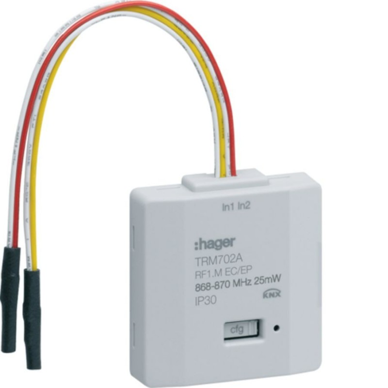 Hager - {reference} - Hager SAS - TRM702A - 2 entrées pile KNX radio