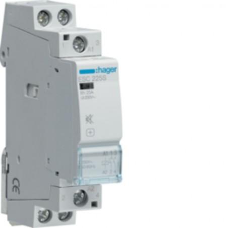 Hager - {reference} - Hager - ESC225S - Contacteur silencieux 25A, 2F, 230V