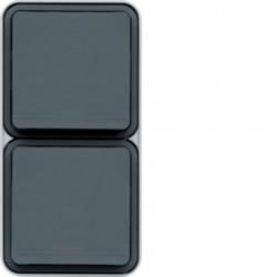 Hager SAS - WNC132 - cubyko PC dble vert 2P+T gris