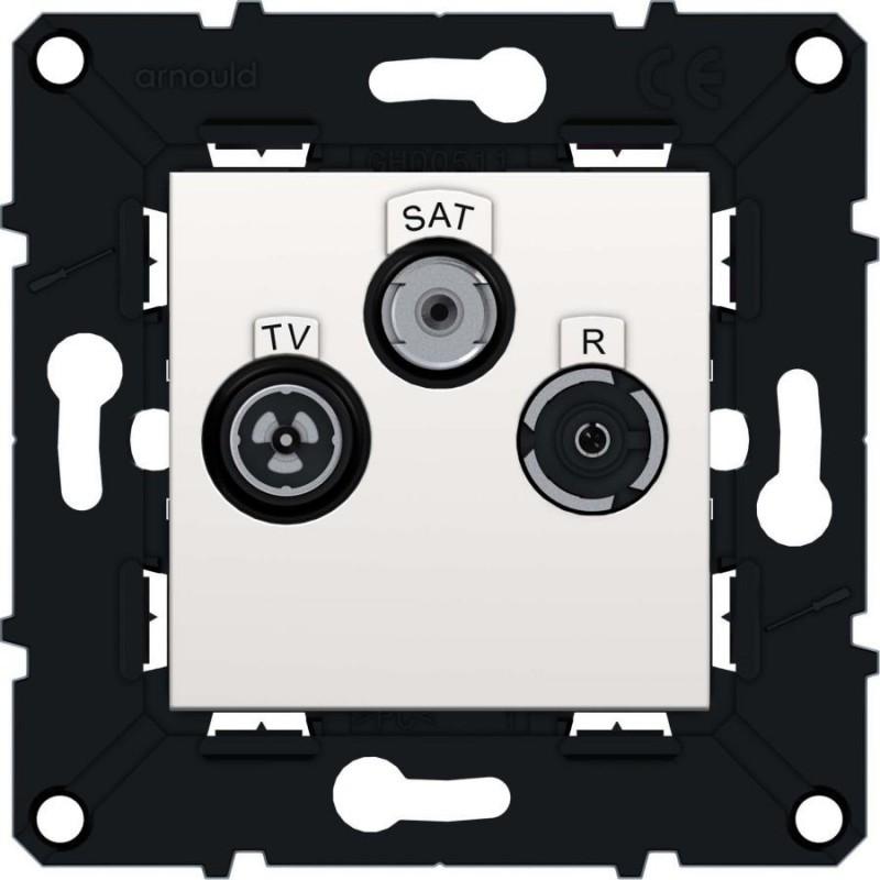 Arnould - 64077 - PRISE TV/R/SAT ETOI ESP.EV BL
