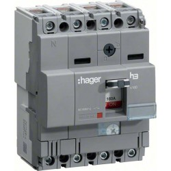 Hager - {reference} - Hager SAS - HCA161H - Inter x160 4P 160A fixe