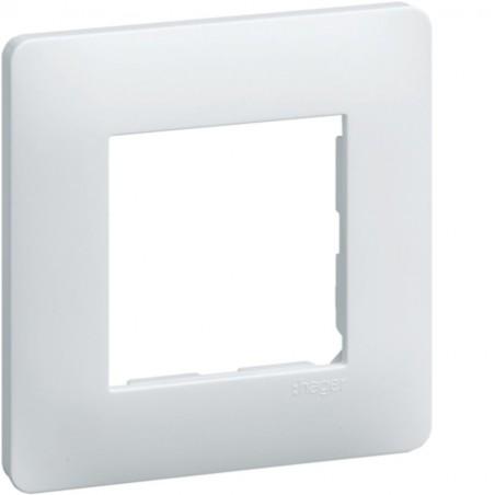Hager - {reference} - Hager - WE401 - Essensya Plaque 1 poste Blanc