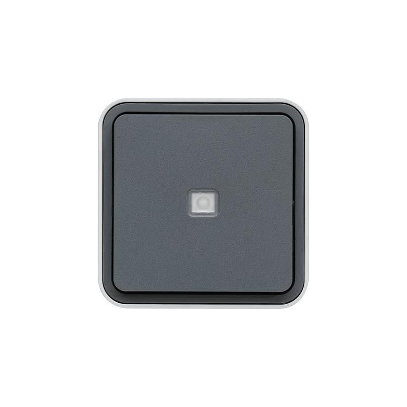 Hager SAS - WNC021 - cubyko BP 1O/1F a voyant gris