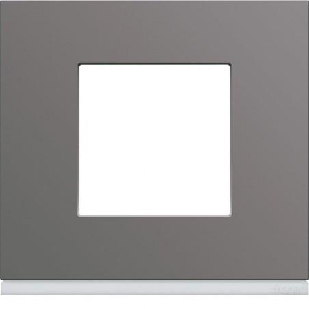 Hager SAS - WXP0902 - Plaque plastique 1P taupe