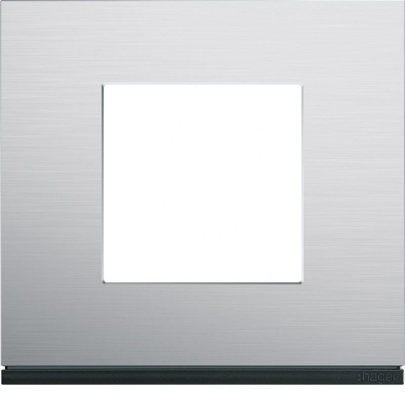 Hager - {reference} - Hager SAS - WXP4302 - Plaque 1P natural alu