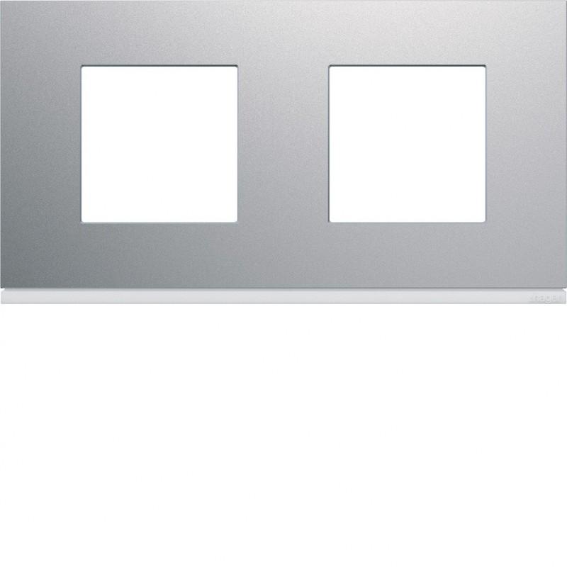 Hager SAS - WXP0112 - Plaque 2P H71 titane