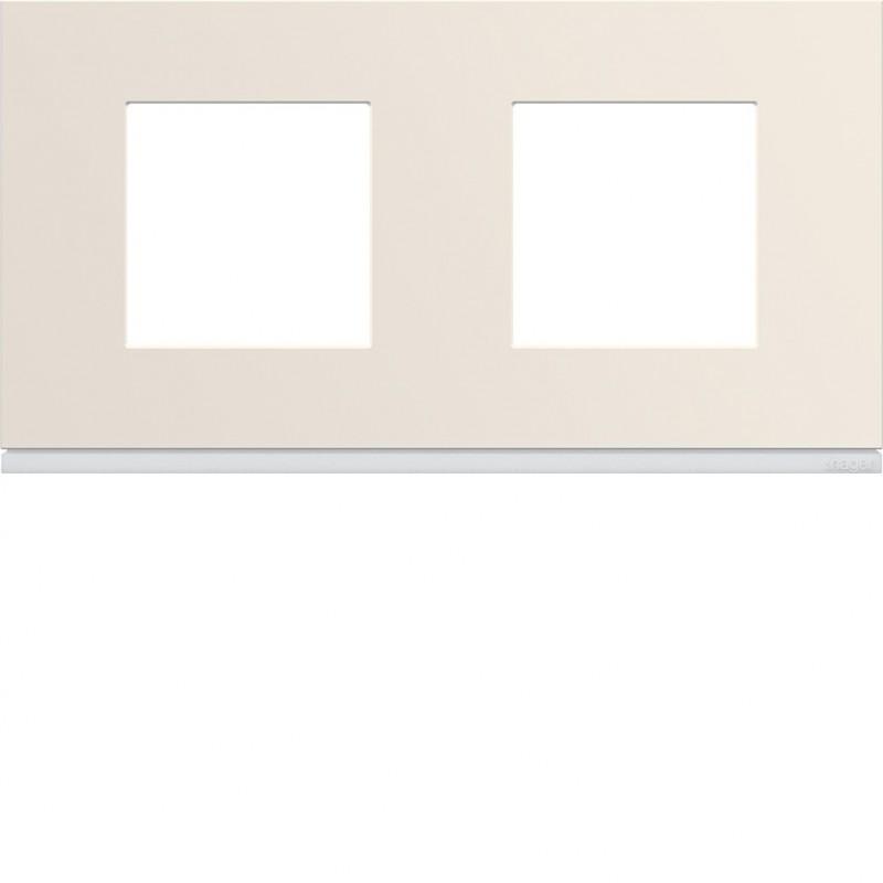 Hager SAS - WXP0312 - Plaque 2P H71 dune