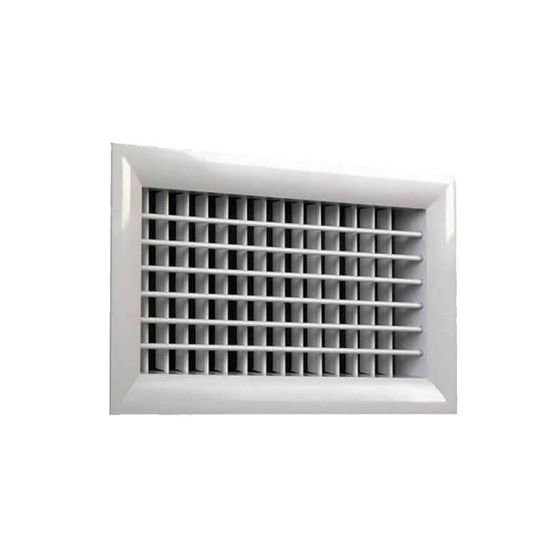 THERMIMPORT - {reference} - Grille double déflexion alu blanche 400X200B