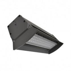 Miidex Lighting - {reference} - Lampe industrielle LED Intégrées gris anthracite 100W 12100 LM 4000°K