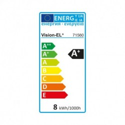 Miidex Lighting - {reference} - Ampoule LED E27 G125 Filament 8W 2300°K
