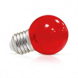 Ampoule LED E27 Bulb 1W Rouge Blister x 2