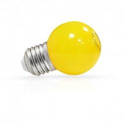 Miidex Lighting - {reference} - Ampoule LED E27 Bulb G45 1W Jaune Blister x 2