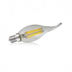 Miidex Lighting - {reference} - Ampoule LED E14 Filament Coup de vent 4W 2700°K Blister x 2