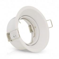 Miidex Lighting - {reference} - Support de spot basse luminance Rond Rotatif Orientable blanc Ø85