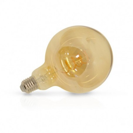 Ampoule LED E27 G125 Filament Spirale 4W 2700°K Golden