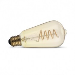 Miidex Lighting - {reference} - Ampoule LED E27 ST64 Filament Spirale 4W 2700°K