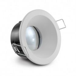 Miidex Lighting - {reference} - Support de spot Basse Luminance BBC Rond Etanche blanc Ø85 IP65