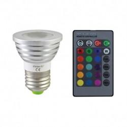Ampoule LED E27 RGB + Telecommande