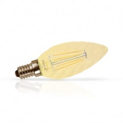 Ampoule LED E14 Filament Torsadee 1W 2700°K Golden Boite