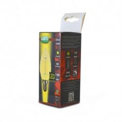 Miidex Lighting - {reference} - Ampoule LED E14 Filament Torsadee 1W 2700°K Golden Boite