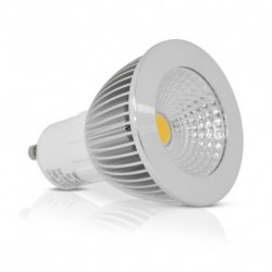 Miidex Lighting - {reference} - Ampoule LED GU10 Spot 6W 3000°K Dimmable Aluminium 75°