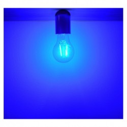 Miidex Lighting - {reference} - Ampoule LED E27 Filament 2W Bleue