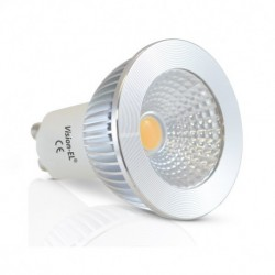 Miidex Lighting - {reference} - Ampoule LED GU10 Spot 5W Dimmable 2700°K Aluminium