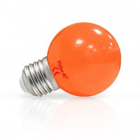 Miidex Lighting - {reference} - Ampoule LED E27 Couleur Bulb 1W Orange