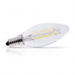 Miidex Lighting - {reference} - Ampoule LED E14 Filament Flamme 4W 495 LM Dimmable 2700°K