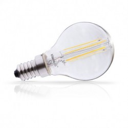Miidex Lighting - {reference} - Ampoule LED E14 Filament P45 3W 2700°K Blister x 2
