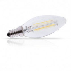 Miidex Lighting - {reference} - Ampoule LED E14 Filament flamme 2W 3000°K Pack x 2