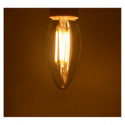 Miidex Lighting - {reference} - Ampoule Led E14 Filament Flamme  4W 2700°K