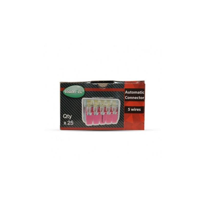 Miidex Lighting - {reference} - Vision-el |Connecteur automatique 5 câbles - Pack de 25