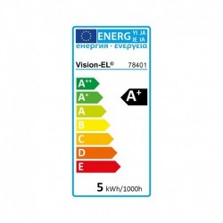 Miidex Lighting - {reference} - Ampoule LED GU10 Spot 5W 2700°K