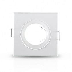 Miidex Lighting - {reference} - Support plafond Carré Orientable Blanc 84 x 84 mm
