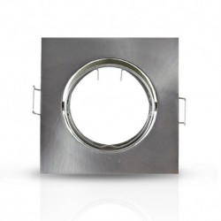 Miidex Lighting - {reference} - Support plafond Carré Orientable Argent 85 x 85 mm