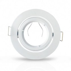 Support plafond Rond 1/4 de tour Orientable Blanc Ø93 mm