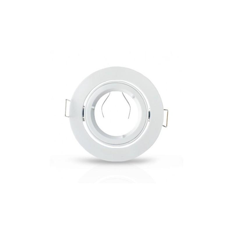 Support plafond Rond 1/4 de tour Orientable Blanc Ø93 mm