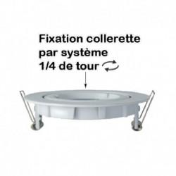 Miidex Lighting - {reference} - Support plafond Rond 1/4 de tour Orientable Blanc Ø95 mm