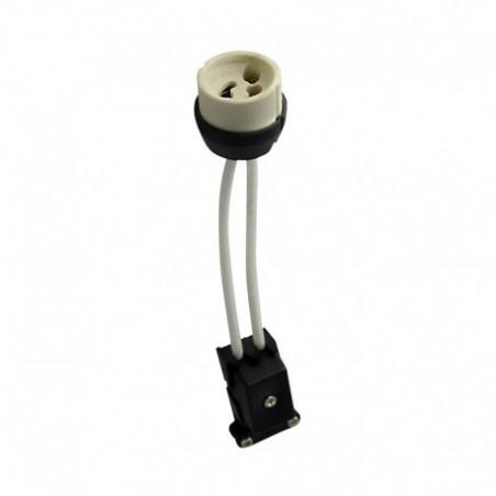 Miidex Lighting - {reference} - Douille ceramique GU10 230V CL2 avec câble