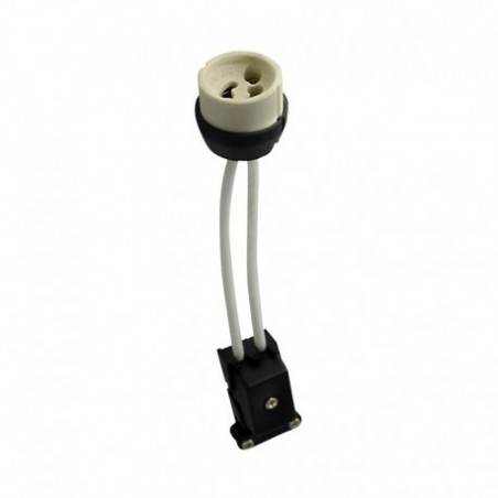 Douille ceramique GU10 230V CL2 avec câble