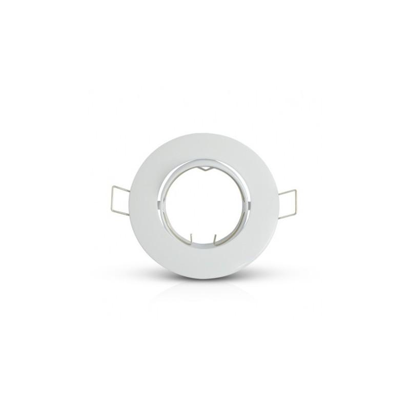 Support plafond Rond Orientable Blanc Ø93 mm