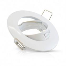 Miidex Lighting - {reference} - Support plafond Rond Orientable Blanc Ø93 mm