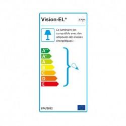 Miidex Lighting - {reference} - Support de spot BBC Rond Etanche Blanc Ø82 x 59 mm IP65