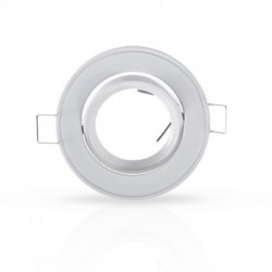 Miidex Lighting - {reference} - Support plafond Rond Orientable Blanc Ø86 mm
