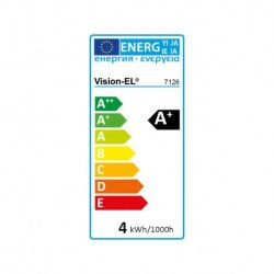 Miidex Lighting - {reference} - Ampoule LED E14 Filament Coup de vent 4W 6000°K