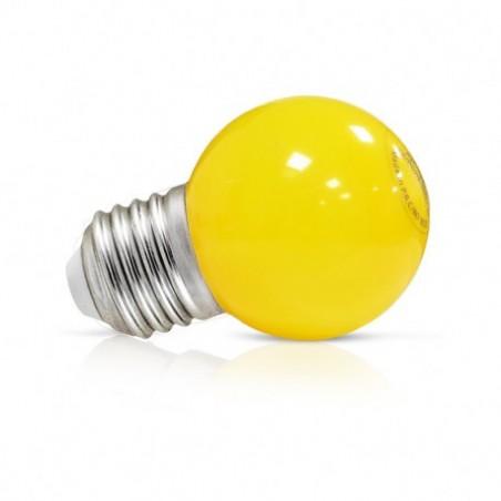 Miidex Lighting - {reference} - Ampoule LED E27 Couleur Bulb G45 1W Jaune