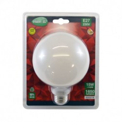 Miidex Lighting - {reference} - Ampoule LED E27 Globe 15W 6000°K