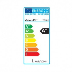 Miidex Lighting - {reference} - Ampoule LED E27 Couleur Bulb G45 1W Rouge