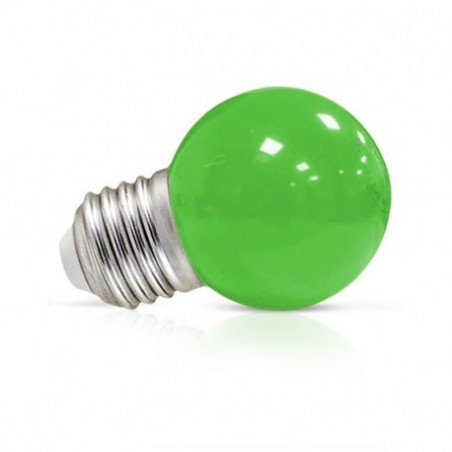 Miidex Lighting - {reference} - Ampoule LED E27 Couleur Bulb G45 1W Vert
